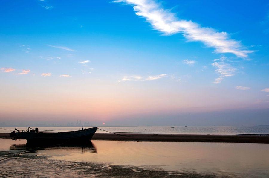 大海遗留下来的滩涂