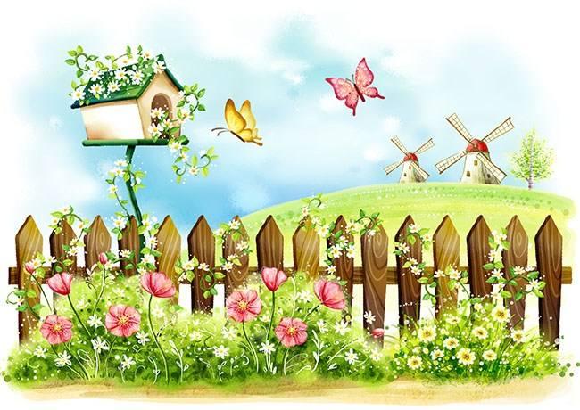 春天的栅栏