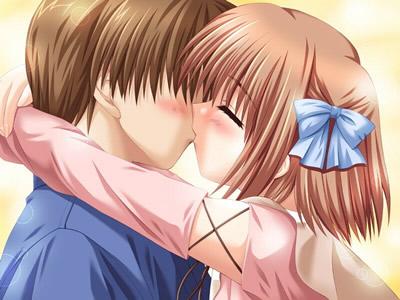 亲吻着,呢喃着,爱情就来了